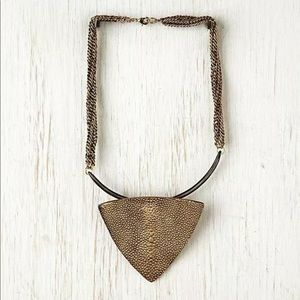 Free People Tribal triangle necklace brass